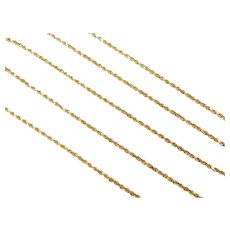 "20"" 14k Gold Diamond Cut Rope Chain ~ 3.9 Grams"