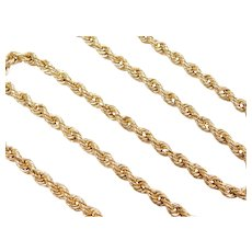 """20 1/2"""" 14k Gold Thick Rope Chain ~ 9.4 Grams"""