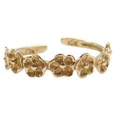 10k Gold Flower Toe Ring