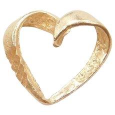 14k Gold Heart Charm / Pendant