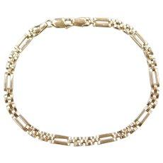 """7 1/4"""" 10k Gold Link Bracelet"""