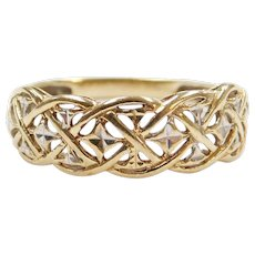 10k Gold Two-Tone Ring