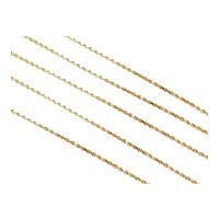 "30"" Long 14k Gold Diamond Cut Rope Chain ~ 16.1 Grams"