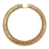 "14 3/4"" Choker 14k Gold Necklace ~ 34.0 Grams"