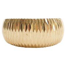 14k Gold Diamond Cut Ring