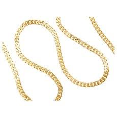 "Pure 27"" Long 24k Fine Gold Curb / Cuban Link Chain ~ 122.5 Grams"
