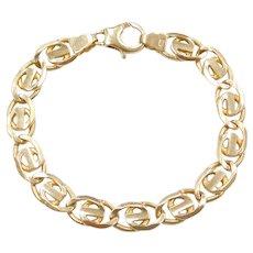 """8"""" 14k Gold Men's Link Bracelet"""