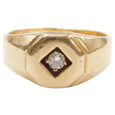 14k Gold Men's Diamond Ring