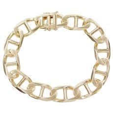 """Men's 8 1/2"""" 14k Gold HEAVY Marine Anchor Link Bracelet ~ 54.3 Grams"""