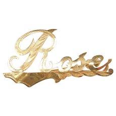 18k Gold Rose Pin / Brooch