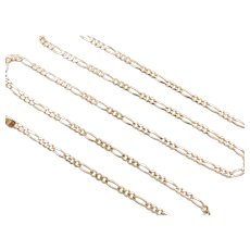 "Figaro 3:1 Link Chain 14k Gold 18 1/2"" Length, 5.0 Grams"