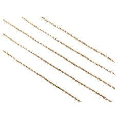 "Long Diamond Cut Rope Chain 14k Yellow Gold 29 1/4"" Length, 7.7 Grams"