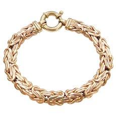 """7"""" 14k Gold Byzantine Bracelet"""