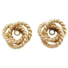 14k Gold Trinity Knot Earring Jackets