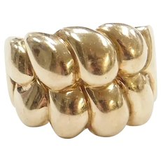 10k Gold Wide Band Ring