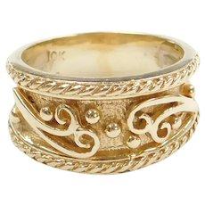10k Gold Ornate Swirl Ring
