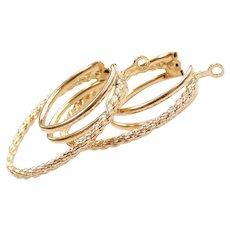 Hoop Earring Jackets 14k Yellow Gold