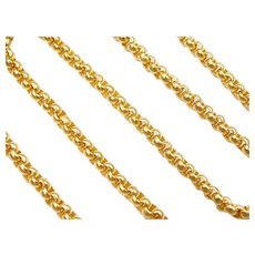 """14 1/2"""" 22k Gold Rolo Chain ~ 15.2 Grams"""