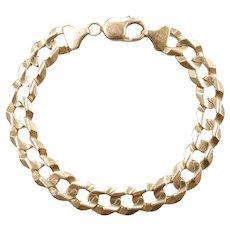 "Men's / Gents Solid Curb / Miami Cuban Link Bracelet 10k Yellow Gold 8 7/8"" Length, 23.5 Grams"