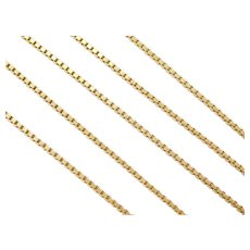 "20"" 18k Gold Box Chain ~ 8.2 Grams"