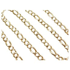 "20 1/2"" 14k Gold Figaro Link Chain ~ 21.0 Grams"