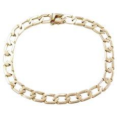 """8 1/4"""" 14k Gold Men's Link Bracelet"""