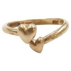 10k Gold Bypass Heart Ring