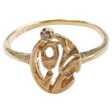 10k Gold Diamond Love Ring