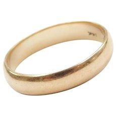 14k Gold Wedding Band Ring Circa 1940's