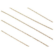"""17 1/2"""" 14k Gold Thin Loose Rope Chain ~ 1.1 Grams"""