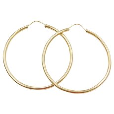18k Gold BIG Hoop Earrings