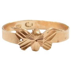 18k Gold Butterfly Ring