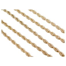 """24 3/4"""" 14k Gold Loose Rope Chain ~ 24.2 Grams"""