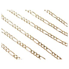 "24"" 14k Gold Figaro Link Chain ~ 15.7 Grams"
