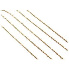 "22"" 14k Gold Diamond Cut Rope Chain ~ 4.3 Grams"