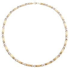 "18"" 14k Gold Two-Tone Necklace"
