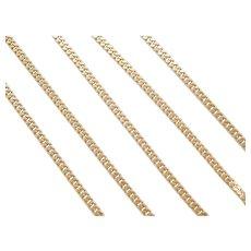 "25"" 14k Gold Curb Link Chain ~ 17.5 Grams"