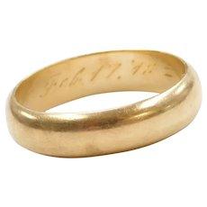 1940's 18k Gold Wedding Band Ring