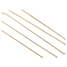 "Diamond Cut Sparkle Rock Chain 14k Yellow Gold 20 1/4"" Length, 2.3 Grams"