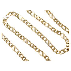 "20"" 14k Gold Men's Heavy Figaro Link Chain ~ 40.0 Grams"