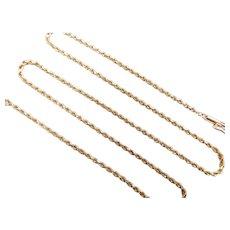 "Diamond Cut Rope Chain 14k Yellow Gold 16"" Length, 4.2 Grams"
