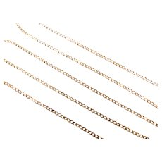 "Curb Link Chain 14k Yellow Gold 20"" Length, 3.4 Grams"