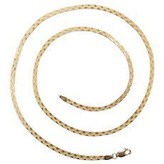 "Herringbone Chain 14k Yellow Gold 20"" Length, 7.1 Grams"