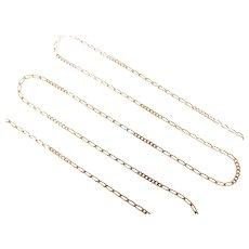 "Fancy Figaro Link Chain 14k Yellow Gold 17 3/4"" Length, 2.0 Grams"