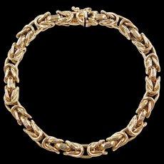 """Vintage 14k Gold Byzantine Bracelet ~ 7 3/4"""""""
