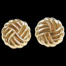 Vintage 14k Gold Screw Back Stud Earrings