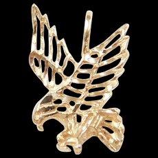 Vintage 14k Gold Eagle Pendant