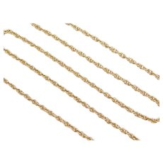 "16"" 14k Gold Loose Rope Chain ~ 4.2 Grams"