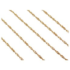 "24"" Long 14k Gold Singapore Chain ~ 3.5 Grams"