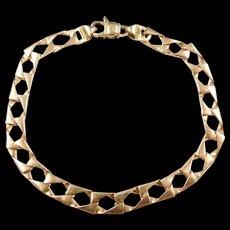 """Vintage 14k Gold Curb Link Bracelet ~ 8 1/4"""""""